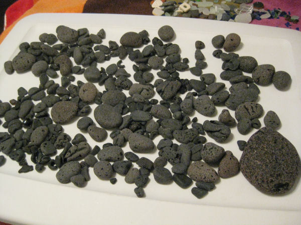 black sea glass from Lake Erie