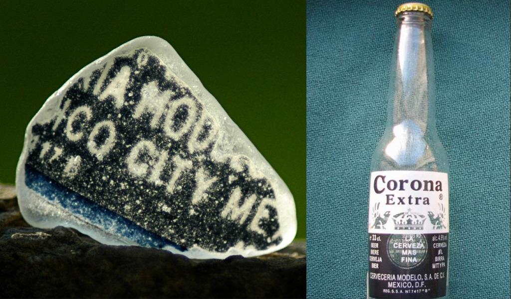 vintage corona beer bottle