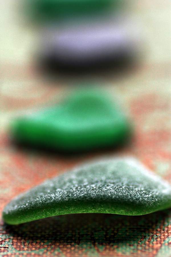 kelly green sea glass