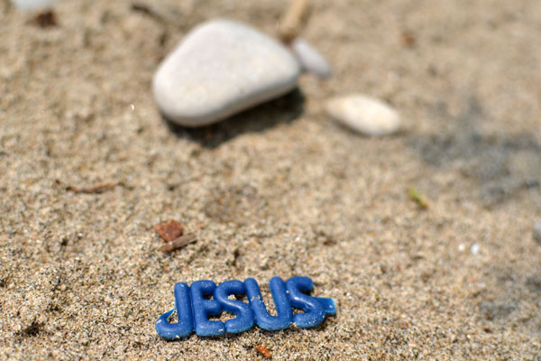 jesus at beach