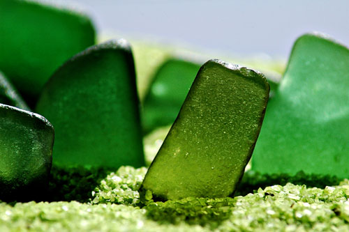 green sea glass from lake erie