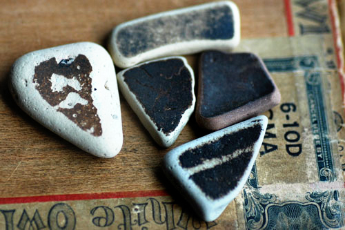 sea glass pottery