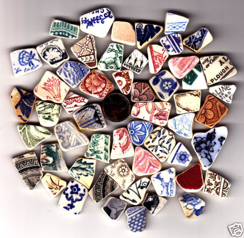 sea glass pottery from UK